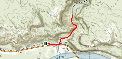 Lower Courthouse Wash Trail Map