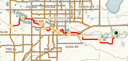 St. Vrain Greenway Trail Map