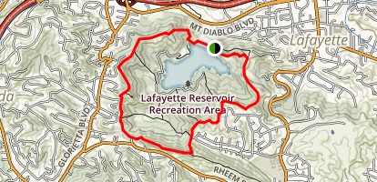 Lafayette Reservoir Nature Area Rim Trail Map