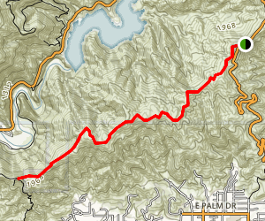 Glendora Mountain Way Trail Map
