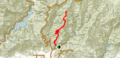 Mystic Canyon and Upper Monroe Trail Map