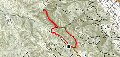 Las Trampas Peak Map