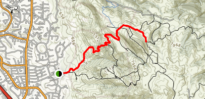 Stanford Avenue to Mission Peak Map