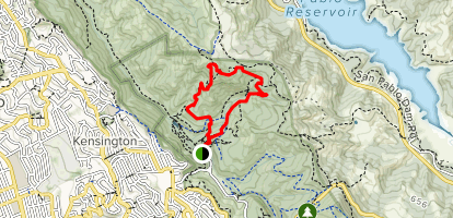 Wildcat Peak Trail via Laurel Canyon and Sylvan Trail Map
