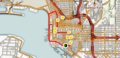 San Diego Walking Tour: Gaslamp, Little Italy, and Marina District Map