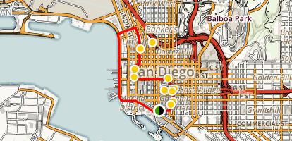 San Diego Walking Tour Gaslamp Little Italy And Marina District Map