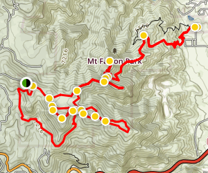 Mount Falcon Mountain Bike Trail Map