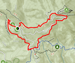 Juniper and Summit Trail Loop Map