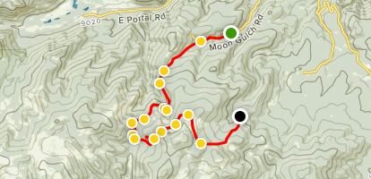 Moon and Gamble Gulches 4x4 Trails Map