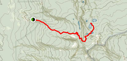 Seven Lakes Basin Trail Map