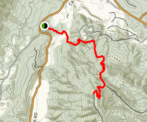 Tinker Cliffs/Andy Layne Trail - Map