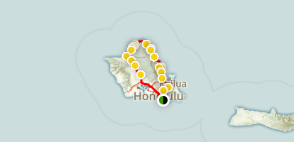 Oahu's North Shore Map