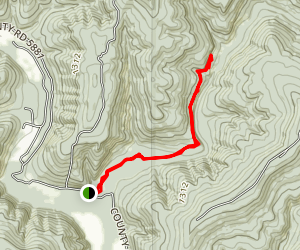 Haw Creek Falls Campground Trail Map