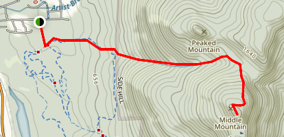 Middle Mountain Trail Map