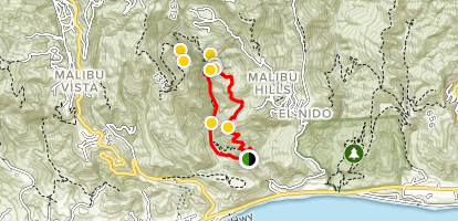 Solstice Canyon Loop Trail Map