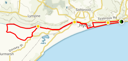 Hythe and the Royal Military Canal Map