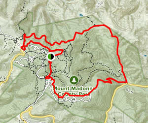 Sprig Trail, Merry-Go-Round, and Tan Oak Trail Loop Map