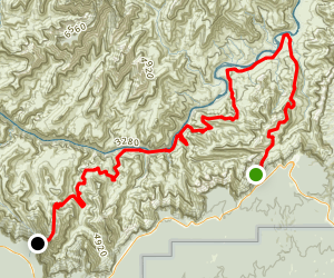 Tanner Trail to Grandview Trail and Grandview Point Map