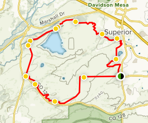 Dirty Bismarck Loop Trail Map