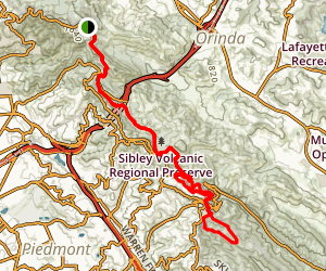 Bay Area Ridge Trail: Tilden Park to Redwood Regional Park Map