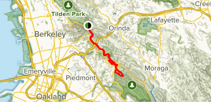 Map Of California Bay Area.Bay Area Ridge Trail Tilden Park To Redwood Regional Park