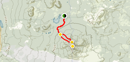 Mount Washington Via Pacific Crest Trail Map