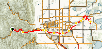 Boulder Creek Greenway Path Trail Map