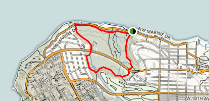 Admirality and Spanish Loop Trail Map