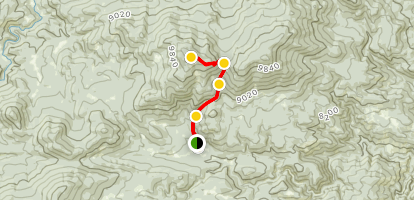West White Pine Mountain Trail Map