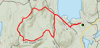 Fire Tower Loop Map