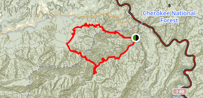 Davenport Gap to Low Gap Loop Trail Map