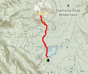Diamond Peak Via Pacific Crest Trail Map