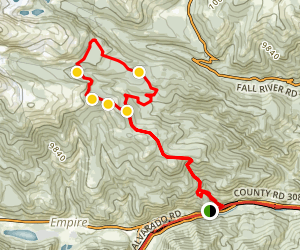 Red Elephant Hill Empire Trail Map