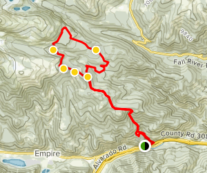 Red Elephant Hill to Empire Loop Map