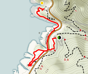 Devil's Churn Loop Map