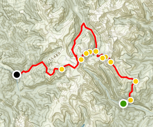 Red Cone Radical Hill &The Swan 4x4 Loop Trail Map