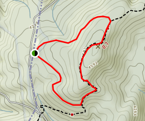 Max Patch Loop via Appalachian Trail Map
