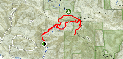 Hood Mountain Trail to Panoramic Ranch Trail Loop  Map