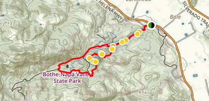 Ritchey Canyon Trail and Coyote Peak Map
