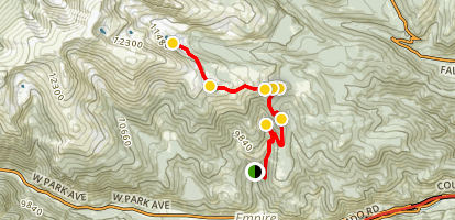 Bill Moore Lake Trail [PRIVATE PROPERTY & CLOSED] Map