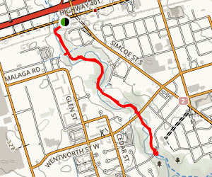 Oshawa Creek Trail  Map