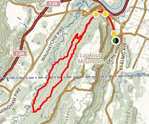 Guild Trail to Upper and Lower Truck Trail Loop Map