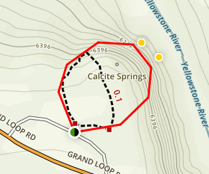 Calcite Springs Overlook Trail Map