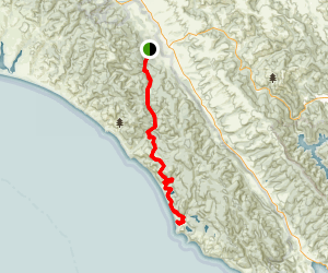 Bear Valley Trail to Wildcat Camp and Alamere Falls Map