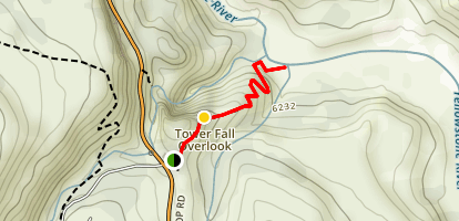 Tower Falls Trail Map