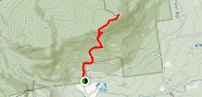 Wentworth Trail to Mt. Israel Map