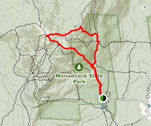 White Dot, Cascade Link, and Pumpelly Trails Loop Map