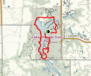Lake Ahquabi State Park Loop Map