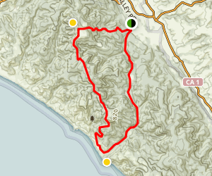 Sky Trail and Bear Valley Loop Map
