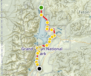 Grand Teton National Park Road Trip Map
